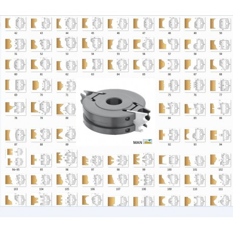 Security profile cutterhead with 32 pairs of limiters 40x4 mm !