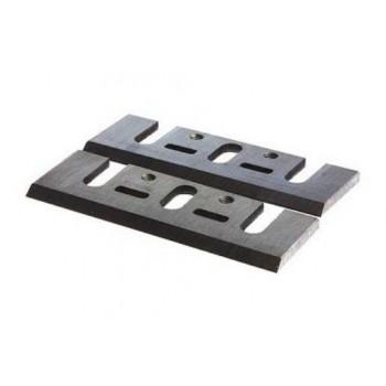 Fers réaffûtables acier 82x29x3.0 mm pour rabot Makita, Black & Decker