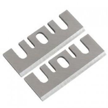 Fers réaffûtables acier (HSS) 82x28x3.0 pour rabot electroportatif Hitachi