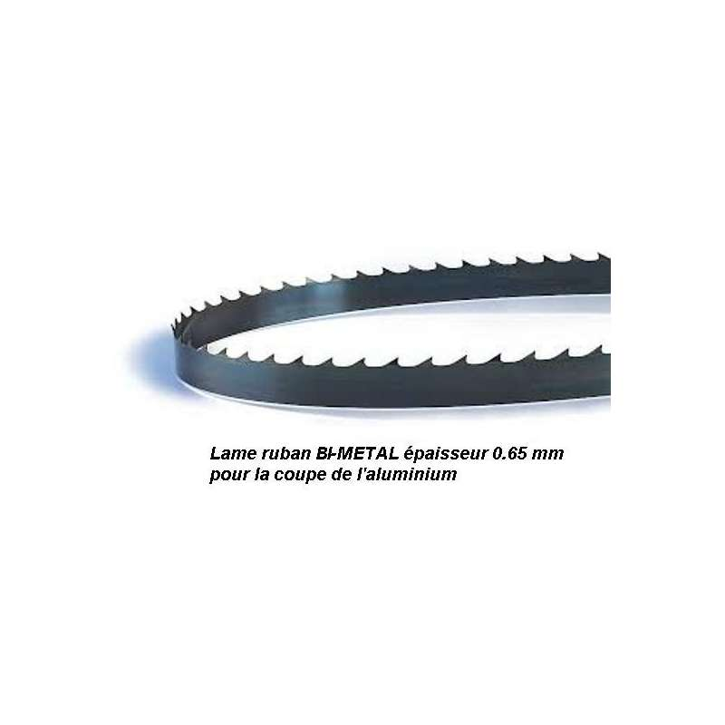 Lame de scie à ruban 1400 X 06 X 0.65 mm Bi-métal pour coupe alu