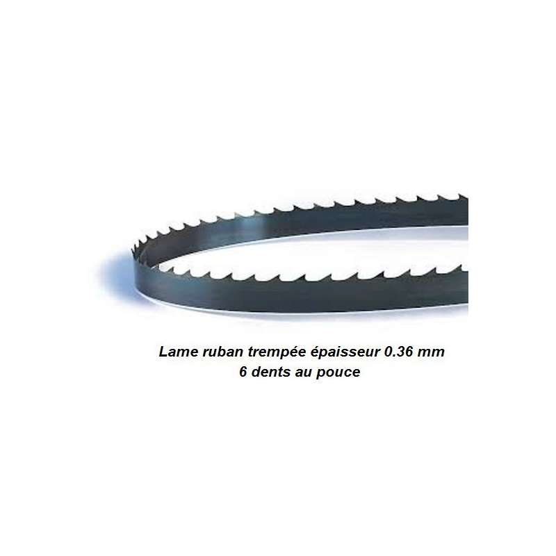 Hoja para sierra de cinta 1820 mm ancho 6 mm espesor 0.36 mm
