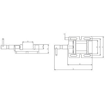 BMO 85 Schraubstock für Bohrmaschine