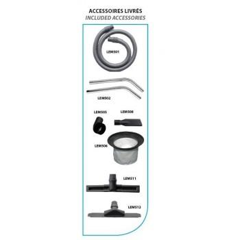 aspiradora agua y polvo para taller Leman ASP305