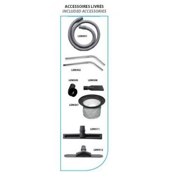 Aspirapolvere in acciaio inox acqua e polvere Leman ASP701