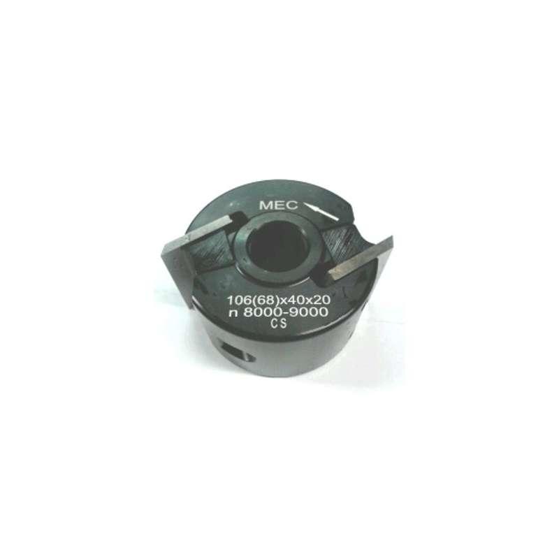 Porte-outils à moulurer diamètre 68 alesage 20 pour toupie Kity 626