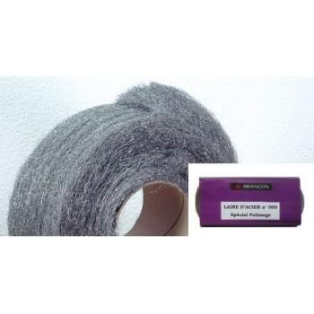 La lana de acero en la madeja-n° 000 para el pulido y encaustiquage (100gr)