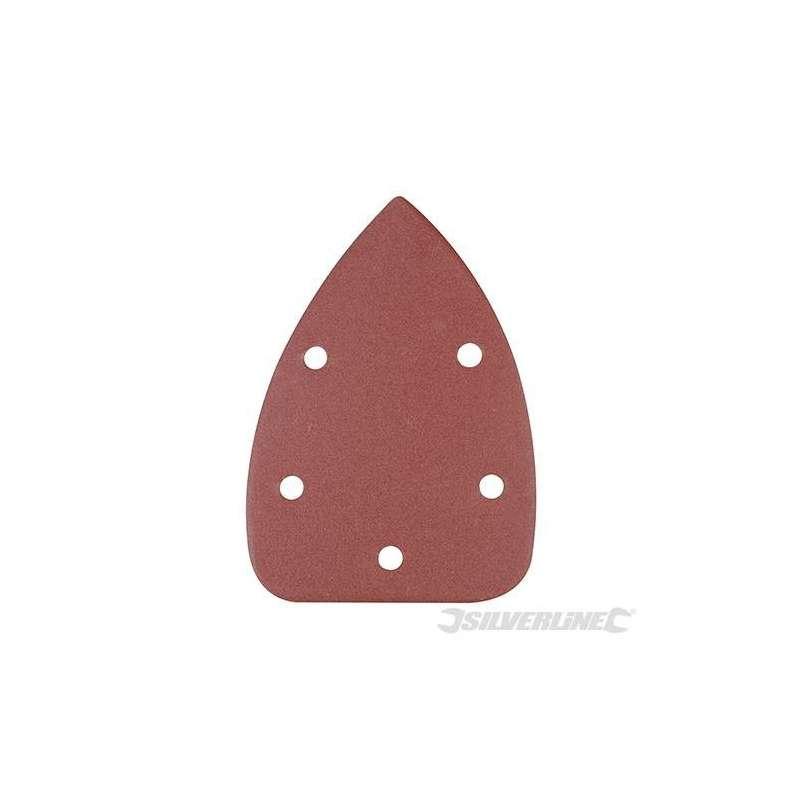 Hojas de lija triangulares autoadherentes 140 mm grano 120, 10 piezas