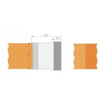 Pastiglie bouvetage a dente di sega, altezza 50 mm (set di 2)
