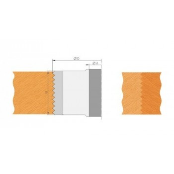 Plaquettes de bouvetage dents de scie hauteur 50 mm (jeu de 2)