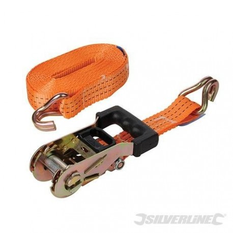 Strap tie-down 3 tonnes to pulley with a ratchet, rubberized 6 m
