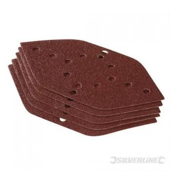 Abrasiva triangolare velcro 210x110 mm varietà di grano - 10 pezzi