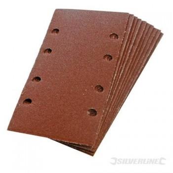 Hojas de lija rectangulares perforadas autoadherentes 93x190 mm grano 80, 10 piezas