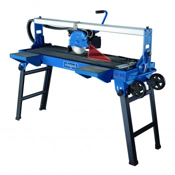 Tile on table Scheppach FS850 electric tile cutter