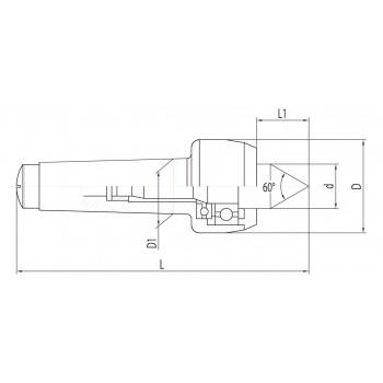 Contre-pointe tournante MK2 pour tour à métaux