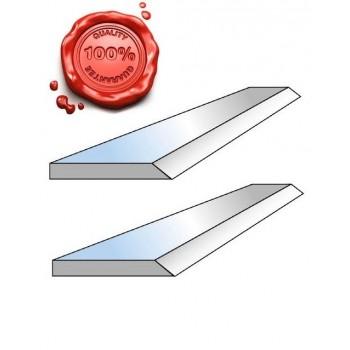 Jeu de 2 fers de dégauchisseuse HSS 18% 260 X 20 X 2.5 mm