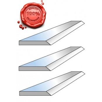 Jeu de 3 fers de dégauchisseuse HSS 18% 260 X 20 X 2.5 mm