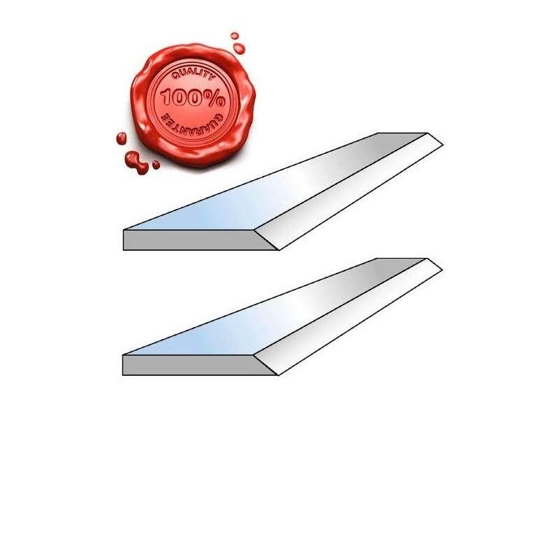 Jeu de 2 couteaux de dégauchisseuse HSS 18% 200 X 20 X 2.5 MM