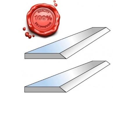 Jeu de 2 fers de dégauchisseuse HSS 18% 200 X 20 X 2.5 mm Top Qualité