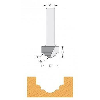 Taglierina router Q6 - Modanatura decorativo Ø 19 - R4