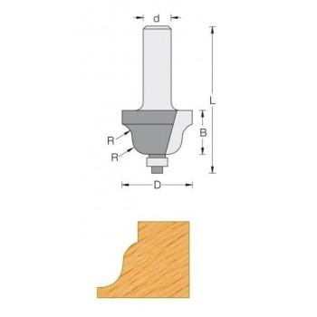 Fräser für oberfräse-Q8 - Einfassung, dekorativen Ø 38.1 - R6.4