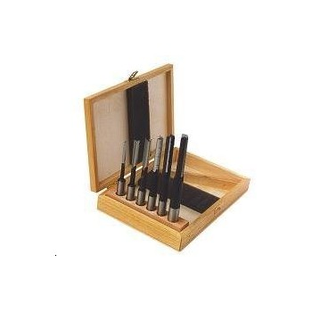 Box of 6 locks mortise with breeze, chip, tail 13 mm, rotation to the left