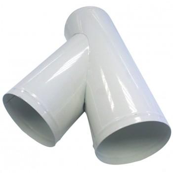 Y Raccordo di estrazione polvere 100 mm + 2 uscite 100 e 80 mm