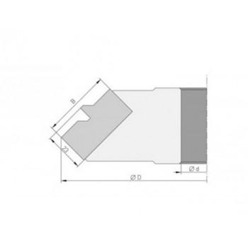 Plaquette pour porte-outils bouvetage d'angle à 45° en onglet