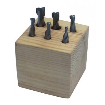 Fraises HSS diamètres 3-10 mm (jeu de 6 pièces) - outils de fraisage