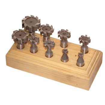 Titan coated HSS cutters for milling metal (set of 12)