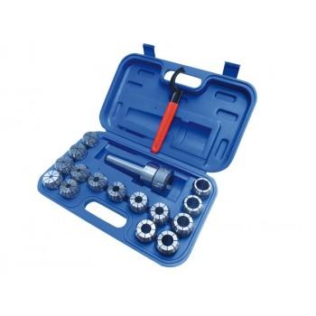 Mandrin porte-pinces MT2 et 15 pinces ER40 - 3 à 25 mm