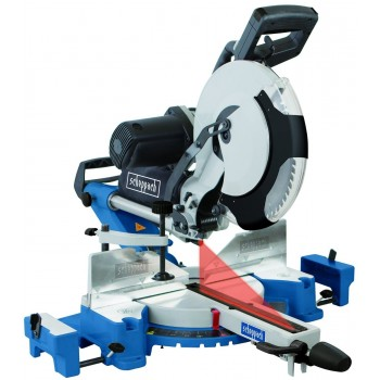 Radial miter saw dual tilt Ø305  Kity MS305DB with 2 blades carbide